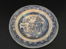 "English ""Stone china"" blue soup bowl 1860 ~ 1870s asian theme"