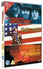 THE LONGEST DAY PATTON & TORA! TORA! TORA! 3 DISC BOX SET FOX UK REG 2 DVD L NEW