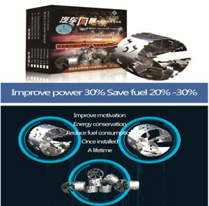 Turbocharger Fuel Saver Oil Accelerator Stainless Steel Car Power Fuel Saver x1