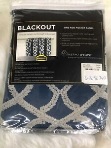 "ECLIPSE THERMAWEAVE BLACK OUT WINDOW PANEL 37"" x  84""INDIGO isante"