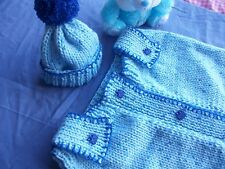 Baby knitting pattern, sleeping bag + hat, papoose, cocoon. 0-3 months.Boy, Girl