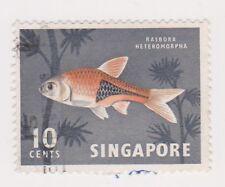 (K65-249) 1962 Singapore 10c Harlequin fish (C)