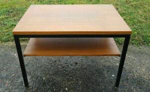 Tisch  60er 70er Jahre Beistelltisch Couchtisch Mid century Metall Holz