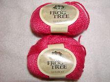 2 SKEINS - FROG TREE MERIBOO - 70% Merino Wool/30% Bamboo. Color # 23 - ROSE