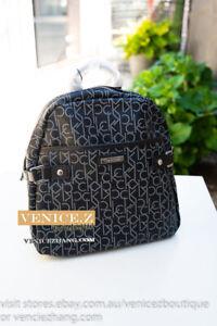 BNWT USD$158 CALVIN KLEIN PVC Logo Backpack Shoulder Bag