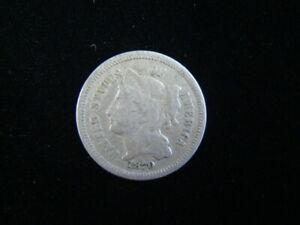 1870 Three Cent Nickel VF