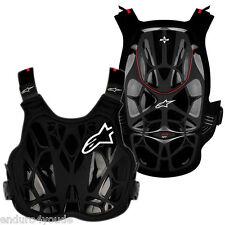 Alpinestars A8 Luz Coraza Protector de pecho negro Enduro Motocross XS - S