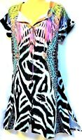 TS top TAKING SHAPE plus sz S -M / 18 St Tropez Shirt soft drape lush NWT rp$140