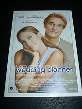THE WEDDING PLANNER, film card [Jennifer Lopez, Matthew McConaughey]