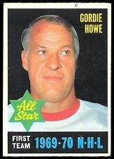 1970 71 OPC O PEE CHEE HOCKEY #238 GORDIE HOWE EX+ DETROIT RED WINGS ALL STAR