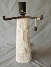 Imposant et rare pied de lampe albâtre art déco / art nouveau