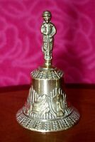 Vintage brass bell with a apostle & angels