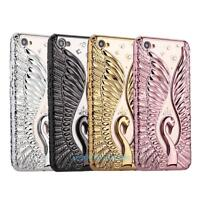 Embossed Peacock Rhinestone Silicone Phone Case Cover For iPhone 6/6s 6/6s Plus