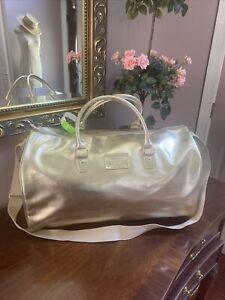 Michael Kors Duffel Weekender Bag Gold Large Gym Carry-on Promotional Item  B3I