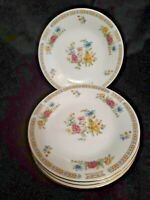 "LiLing Fine China Ling Rose Pattern 8"" dessert dishes"