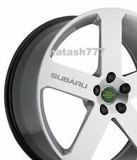 4 - SUBARU Sport  Racing Decal sticker emblem logo wheels rims SILVER
