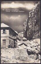 BELLUNO CORTINA D'AMPEZZO 123 RIFUGIO CANTORE Cartolina FOTOGRAFICA viagg. 1927