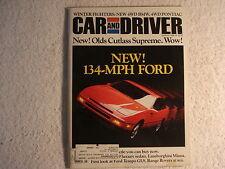 Car and Driver March 1988 Ford Probe, Oldsmobile, Pontiac, BMW, Mazda 929, VW,