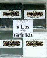 Rock Tumbler SiC Grit Kit Polishes 6 Lbs of Rocks !Best on eBay!! NEW!!