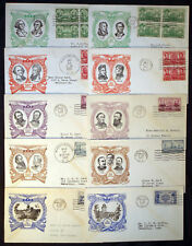 """#785-794 COMPLETE SET """"ARMY & NAVY"""" FIRST DAY CACHET COVERS BL383"""