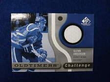 2005 SPGU Glenn Anderson Oldtimers challenge jersey card  Oilers  65/100