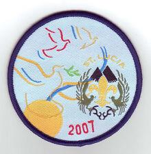 2007 World Scout Jamboree ST. LUCIA SCOUTS Contingent Patch
