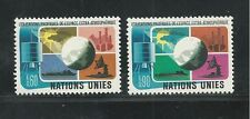 United Nations, Geneva # 46-47 Mnh 1975 Peaceful Use Of Outer Space