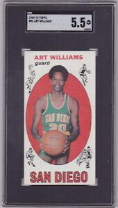 1969-70 Topps #96 ART WILLIAMS Rookie ~SGC 5.5 EX+~