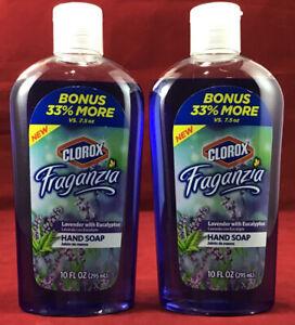 Pk 2 Hand Soap Fraganzia Lavender w/Eucalyptus BONUS 33% MORE! 10 oz.