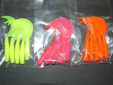 15 x Jelly Grub Worm Curly tail lures Mackerel Bass Cod Pike Sea Boat Fishing