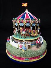 """Liberty Falls """" The Carousel Comes To Town """" Very Detailed Statue In Box"""