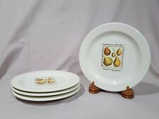 """Pottery Barn """"Natures Beauty/Luscious Pears"""" Salad/Appetizer Plates - Set of 4"""