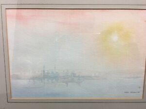 John Thorn Signed & Framed Watercolor