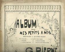 Chanson d'Autrefois di Gabriel Piernè Spartito Pianoforte a Quattro Mani 1900