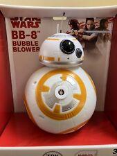 NEW Disney Parks Star Wars The Last Jedi BB-8 Bubble Blower Machine Toy