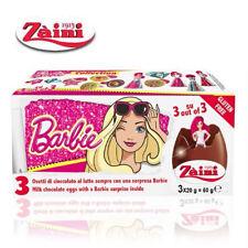 Zaini DISNEY BARBIE Milk Chocolate Toys Inside 3 Egg Collectible Free Shipping