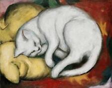 CAT, CHAT, KATZE, SLEEPING, FRANZ MARC, GERMAN EXPRESSIONIST, FRIDGE MAGNET