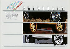 Prospekt D+GB Chevrolet Commercials 1989 Astro S10 Blazer Pickup Suburban Full S