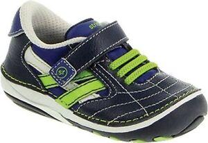 NIB Stride Rite Athletic Shoes Jason Blue Green 3 M