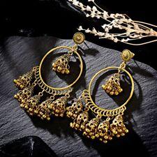Fashion Women Indian Jhumka Gypsy Jewelry Gold Boho Vintage Ethnic Drop Earrings