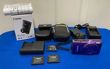 Canon PowerShot ELPH 360 HS 20.2 MP Compact Digital Camera - Purple - Bundle