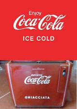 sticker logo COCA COLA ice cold for OLD FRIDGE COOLER-VECCHI FRIGO A POZZETTO