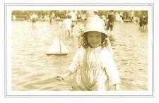 Nostalgia Postcard Boating Pond, Rhyl 1923, North Wales Repro Card NS56