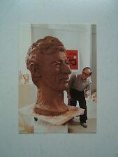 TINTIN /  RARE CARTE BUSTE  HERGE  AVEC SIGNATURE ORIGINALE DE TCHANG  / 1988