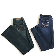 Seven 7 Womens Lot of 2 Premium Bootcut / Skinny Stretch Jeans Size 29