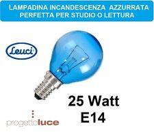 4 LAMPADE SOLARE RIPOSANTE VETRO AZZURRO  25W E14 INCANDESCENZA LAMPADINA SFERA