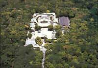 JAPAN Post Card Postkarte Aerial View of a Shrine Temple Tempel Luftaufnahme