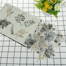60pcs native flower gilding stickers decoration diy diary planners scrapbookings