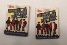 New Kids On The Block Topps Trading Cards (2 unopened pks) with Sticker 1989