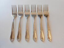 "6 Farberware Majestic Salad Forks 6 1/2"" Stainless"